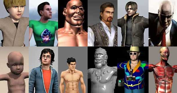 63 free 3d male character models rockthe3d