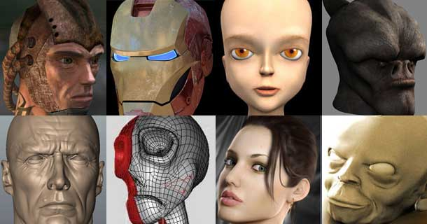 22 head and face makings in 3ds max rockthe3d for 3ds max face modeling