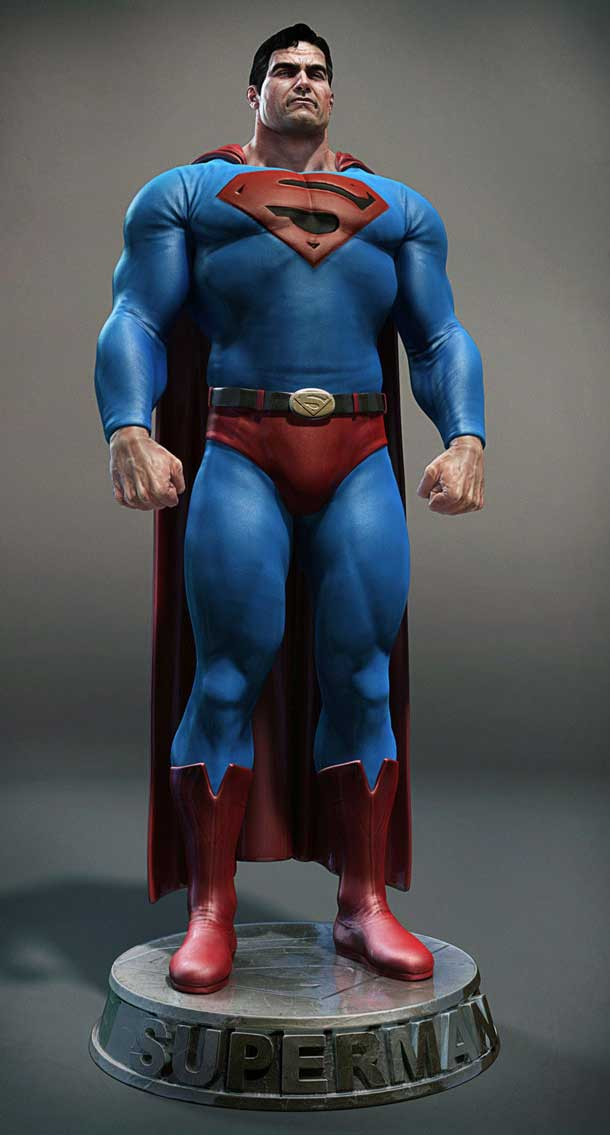 32 superhero movies and sports characters in 3ds max