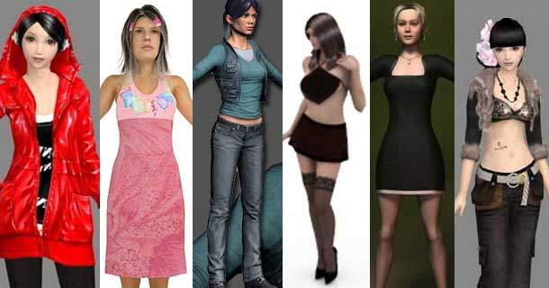 Free 3d Female Character Models Rockthe3d