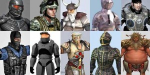 Free-3D-Soldier-Knight-Warrior-Character-Models