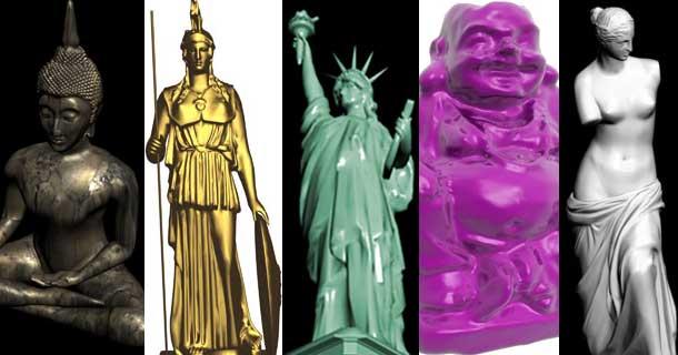 20 Free 3D Statue and Sculpture Models - RockThe3D