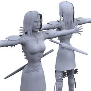 32 Free 3D Female Warrior Character Models
