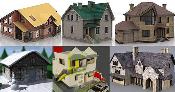 101 best free 3d house models rockthe3d Home 3d model