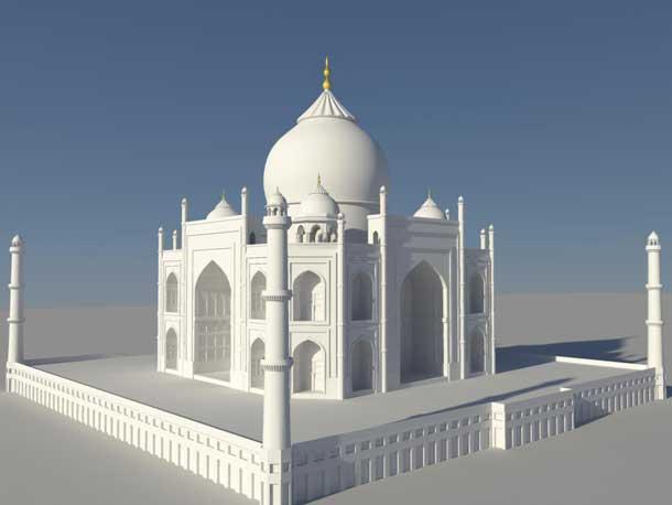Taj Mahal 3d Image: 40 Best Architectural Exteriors In Maya