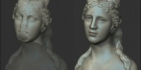 3D Head of Venus Reconstituted with ZBrush