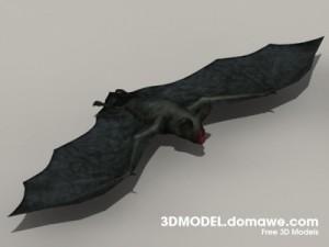 Vampire-Bat-3D-Model