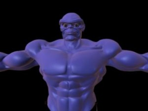Body builder rig for maya free 300x225 125 Free 3D Rigged Funny Cartoon Character Models