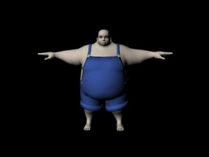 Heavy man rig for maya free 300x225 125 Free 3D Rigged Funny Cartoon Character Models