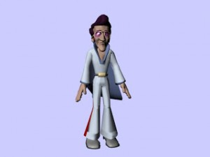 Maya model Funky man rig free 300x225 125 Free 3D Rigged Funny Cartoon Character Models