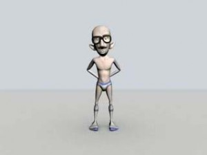 PackageMan maya free model rigged 300x225 125 Free 3D Rigged Funny Cartoon Character Models