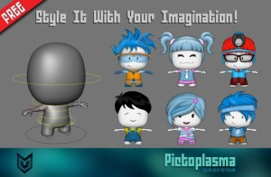 Pictoolasma free 3d rigged model