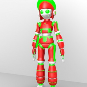 Robot girl rigged 3d model free