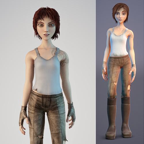 Woman character 3d models free download cadnav. Com.