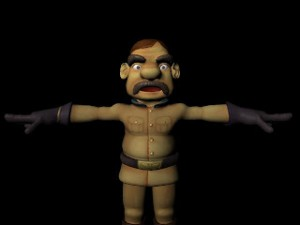 Teddy Human male rigged maya model free 300x225 125 Free 3D Rigged Funny Cartoon Character Models