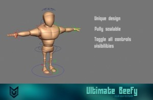 Ultimate Beefy free 3d rigged model 300x196 125 Free 3D Rigged Funny Cartoon Character Models