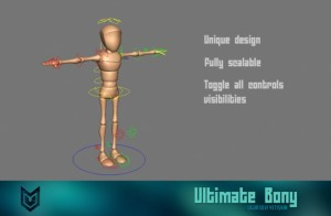 Ultimate Bony free 3d models rigged