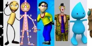125 Free 3D Rigged Funny Cartoon Character Models