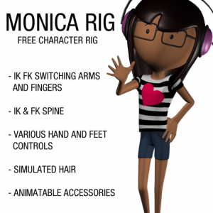 Monica_free_3d_rigged_model