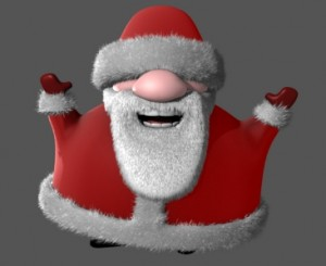 Santa free 3d rigged model 300x245 125 Free 3D Rigged Funny Cartoon Character Models