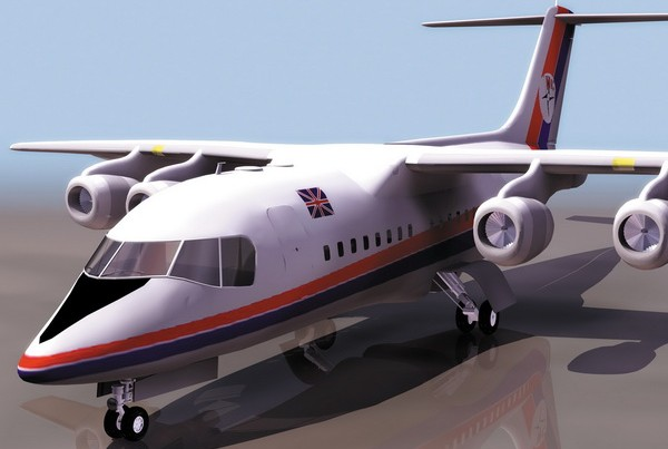 BAe 146 regional airliner 3d model