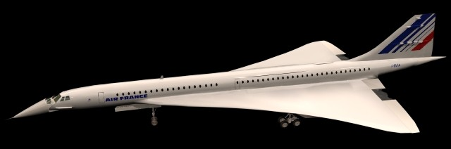 Concorde Supersonic airliner 3d model