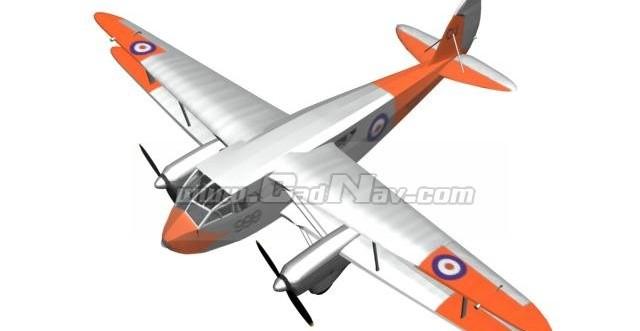De Havilland Dragon Rapide Short-haul airliner 3d model
