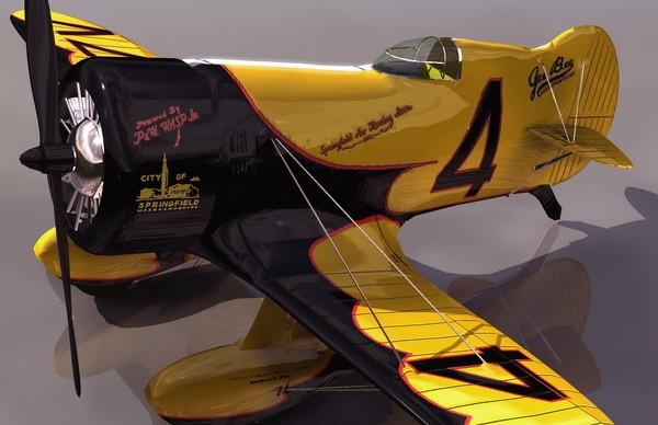 GeeBee Model Z American racing aircraft 3d model