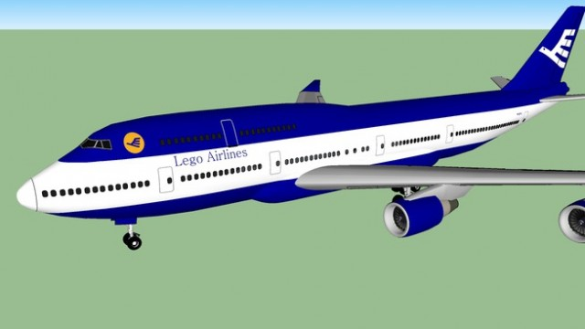 Lego Airlines Boeing 747-4L7 (1989-2003 Blue Bird Livery)