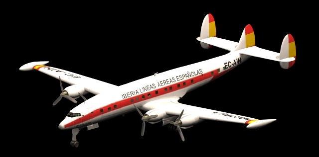 Lockheed Super Constellation Airliner 3d model