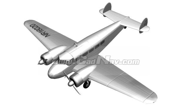 Lockheed Vega transport aircraft 3d model