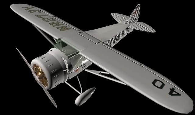 Wright Flyer 3d Howard DGA-6 racing aircraft 3d model
