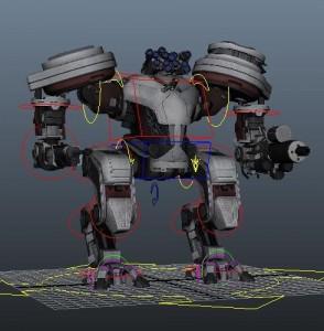 Mech Robot rig Maya 2013