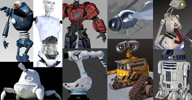 55 Free Ultimate 3D Rigged Robot Models - RockThe3D