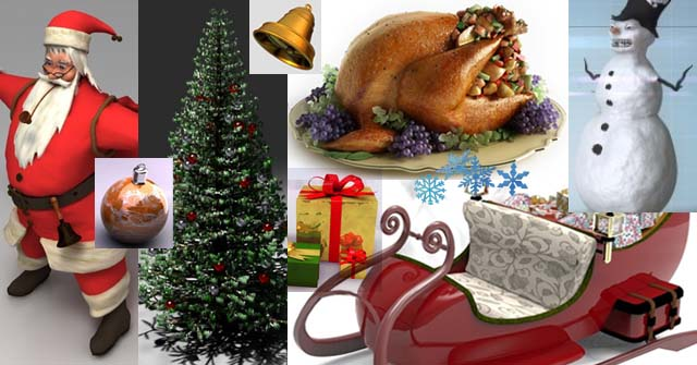 40+ Best Free Christmas 3D Models