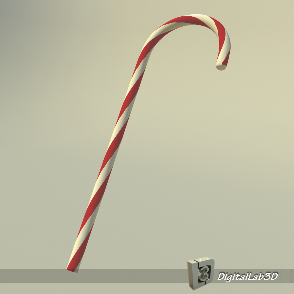 Cane-christmas-free-3d-model