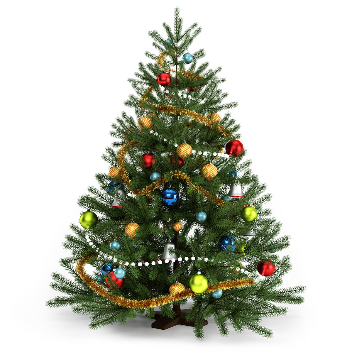 Christmas tree free 3d model max rockthe3d Large decorated christmas trees
