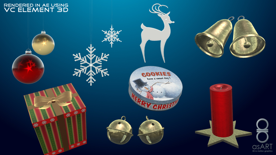 Christmas-decorations-free-3d-model