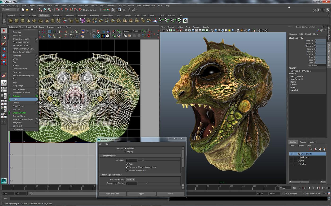 Maya-2015-UV-Unfold3D-screenshot
