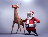 rigged-low-poly-santa-rudolph-free-c4d-model