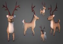 santas-reindeer-zombie-3d-model-free