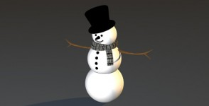 snowman-3d-free-model