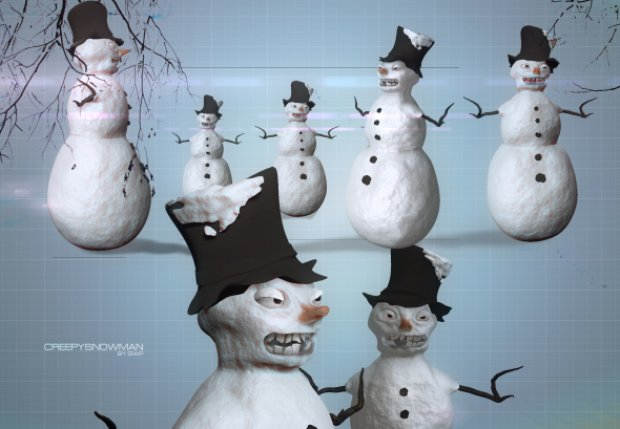 snowman-creepy-christmas-3d-model