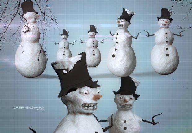 snowman-creepy-christmas-3d-model