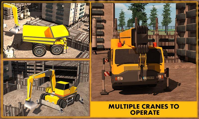 Construction Excavator Sim 3D screenshot