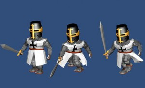 Knight-3D-Model-free-animated