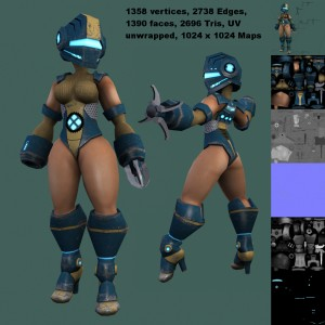 grapple-girl-free-3d-animated-model