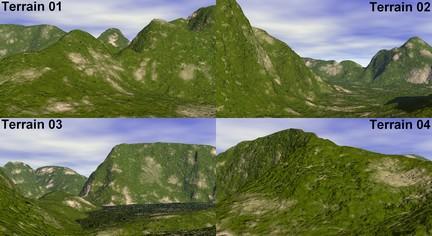 Four-terrains-free-3d-model