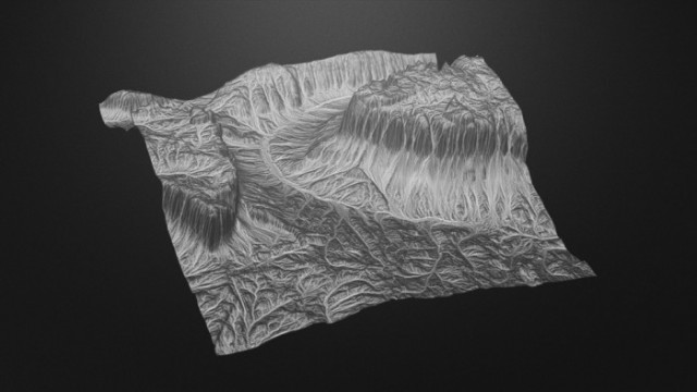 Lonely-Pass-Terrain-free-3d-model