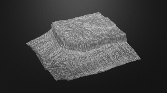 Mesa-Terrain-free-3d-model